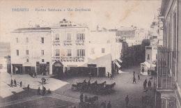 Italia 1916 Cartolina Usata, Taranto Piazza Fontana E Via Garibaldi - Postcards