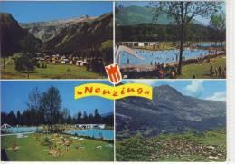 NENZING - Mehrbildkarte, Panorama, Walgau Schwimmbad, Pool , - Nenzing