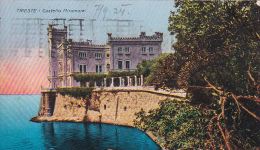 Italia 1924 Cartolina Usata, Trieste Castello Miramare, Spedita In Austria - Postcards