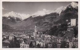 Italia 1937 Cartolina Usata Merano Panorama - Postcards
