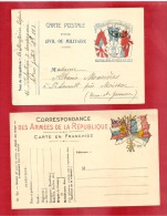 CARTE 6 DRAPEAUX  + JOFFRE  A DROITE  SP 113 Vers MOISSAC  1917 +UNE NEUVE MODELE A    2 SCANS - Poststempel (Briefe)