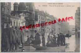 75 - PARIS -CRUE DE LA SEINE- VUE SUR LA RUE DE LYON - JANVIER 1910- THEATRE CONCERT - District 12