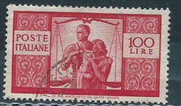 Italia 1946 Usato - Democratica £ 100 - 6. 1946-.. República