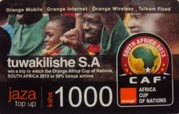 CAF Orange Commemorative  Top Up Card 1,000 Units (Used) - Kenya