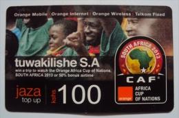 CAF Orange Commemorative  Top Up Card 100 Units (Used) - Kenya