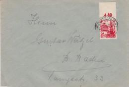 France Zone Baden Mi 8 POR Dgz Bf Baden-Baden 1947 - Zone Française