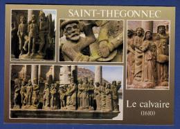 29 SAINT-THEGONNEC Le Calvaire, Façade Ouest, Flagellation, Présentation à Pilate Et Saintes Femmes 4 Vues - Saint-Thégonnec