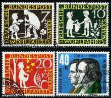 BRD - Michel 322 / 325 - OO Gestempelt (B) - Grimms Märchen, Wohlfahrt 59 - Gebraucht