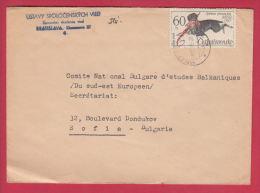 200331 / 1965 - 60 H. Dog Chiens Hunde - Cesky Fousek  BIRD Pheasant , BRATISLAVA Slovakia - SOFIA , Czechoslovakia - Tschechoslowakei/CSSR
