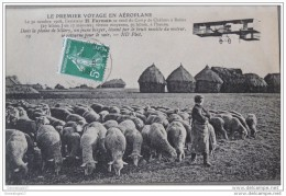 CPA 51 04 CHALONS Le Premier Voyage En Aeroplane H. Farman ..jeune Berger - Camp De Châlons - Mourmelon