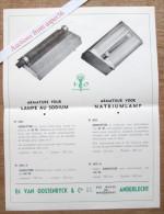 Eclairage Public, Armature Lampe Au Sodium, Van Oostenryck & Cie, Rue Wayez, Anderlecht - Vieux Papiers