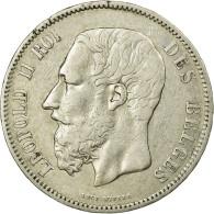 Monnaie, Belgique, Leopold II, 5 Francs, 5 Frank, 1865, TTB, Argent, KM:24 - 09. 5 Francs