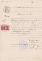 Absie Deux Sèvres Demande Alignement Papier Timbré Filigrane 1936 Timbre Fiscal - Historical Documents