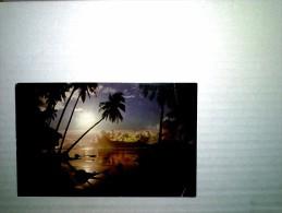Magnifique Coucher De Soleil Sur Ce Miroir D'eau á Punaauia Tahiti - Tahiti