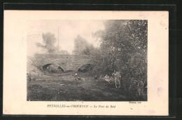 CPA Peyrolles-en-Provence, Le Pont Du Réal - Peyrolles