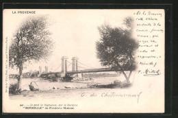 CPA Rognonas, Le Pont Sur La Durance - France