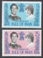 Isle Of Man. 1981 Royal Wedding MH Complete Set. SG 202-203 - Isle Of Man