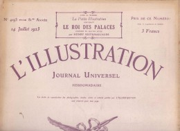 L ILLUSTRATION 1923 . La Pacification Du MAROC . Homage De La Belgique A Guynemer . La BEY De Tunis En France . - Journaux - Quotidiens