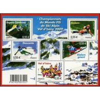 France Feuillet N°4329 Championnat Du Monde FIS De Ski Alpin 2009 - Blocs & Feuillets