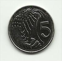2008 - Cayman Island 5 Cents, - Cayman (Isole)