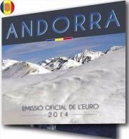 """ANDORRE  :   COFFRET    BU      EUROS   2014   **OFFICIEL   SERIE 8 PIECES**  NEUF   """" 70.000 Ex """" - Andorre"""
