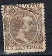 Sello 15 Cts Alfonso XIII Pelon, Carteria Tipo II PERELADA (Gerona) Num 219  º - 1889-1931 Reino: Alfonso XIII
