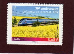 603 - 4592 De 2011 - T.G.V - Neuf ** Adhésif - 60c - Les 30 Ans Du TGV . Provient D´une Feuille De 42  Timbres. - Autoadesivi
