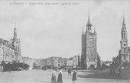 Courtrai -grand'place, Poste, Beffroi, Eglise St Martin - Otros
