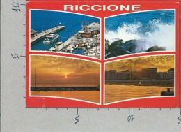 CARTOLINA VG ITALIA - RICCIONE (RN) - Vedutine - Tramonto - 10 X 15 - ANN. 1988 - Rimini