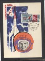 RUSSIA USSR Post Card LITHUANIA VILNIUS VNO-klub-063 Space Exploration Day Women Tereshkova - 1923-1991 USSR