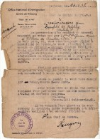 ALLEMAGNE - OFFICE NATIONAL DE L IMMIGRATION - CENTRE DE FRIBOURG - SALZBURG - ST PIERRE DE CHANDIEU - MILITAIRE - Documents