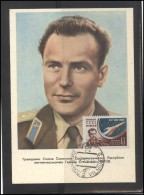 RUSSIA USSR Private Maximum Card LITHUANIA VILNIUS VNO-klub-068 Space Exploration TITOV - 1923-1991 USSR
