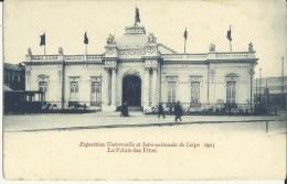 Exposition Universelle Et Internationale De Liége 1905 -- Le Palais Des Fêtes.      ( 2 Scans ) - Liège