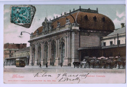 8279  CPA  MILANO : STAZIONE CENTRALE  , Superbe !! 1905 - Milano (Milan)