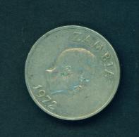 ZAMBIA  -  1972  20n  Circulated Coin - Zambia