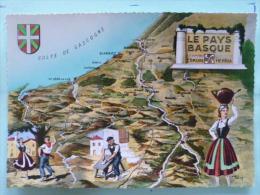 V08-64-A-le Pays Basque-eskual-herria-colfe De Gascogne--blason-dessin- A. Marcy-- - Sonstige Gemeinden