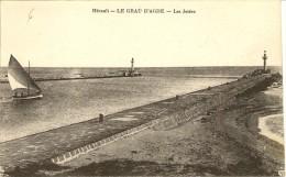 Carte Postale:AGDE (34) :Le Grau D´Agde ,les Jetées - Agde