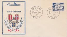 Norway; SAS FDC 1961 - FDC