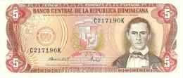 DOMINICAN REPUBLIC 5 PESOS ORO 1988 PICK 118c UNC - Dominicana