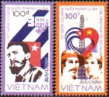 Vietnam MNH Sc 1883-84 Mi 1948-49 Cuban Revolution 30 Th Anniv, 1988 - Vietnam