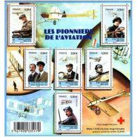 France Feuillet N°4504 Les Pionniers De L'aviation - Blocs & Feuillets