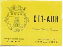 CARTE QSL AMATEUR PORTUGAL - Radio-amateur