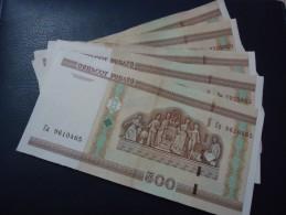 5 PIECES 2000 BELARUS 500 RUBLE - aUNC -