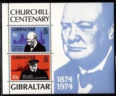 Gibraltar MNH Scott #317a Souvenir Sheet Of 2 Sir Winston Churchill - Gibraltar