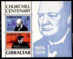 Gibraltar MH Scott #317a Souvenir Sheet Of 2 Sir Winston Churchill - Gibraltar