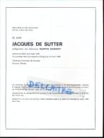 Doodsbrief Faire Part Overlijden - Jacques De Sutter - Procureur Des Konings - Ongeval Brugge 1985 - Avvisi Di Necrologio