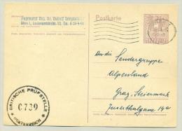 Österreich - 1946 - Britische Prüfstelle 0739 On Postkarte To Graz - 1945-60 Briefe U. Dokumente