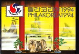 Gibraltar MNH Scott #661 Souvenir Sheet 1pd5p Dog - PhilaKorea 1994 - Gibraltar