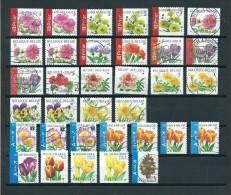 Belgium/België 34x Flowers,all Different Types Used/gebruikt/oblitere - Postzegels