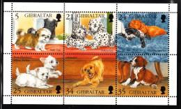 Gibraltar MNH Scott #702 Souvenir Sheet Of 6 Puppies - Gibraltar